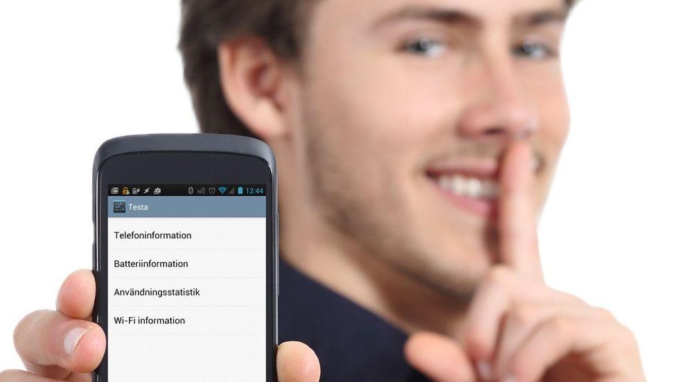 android testa meny