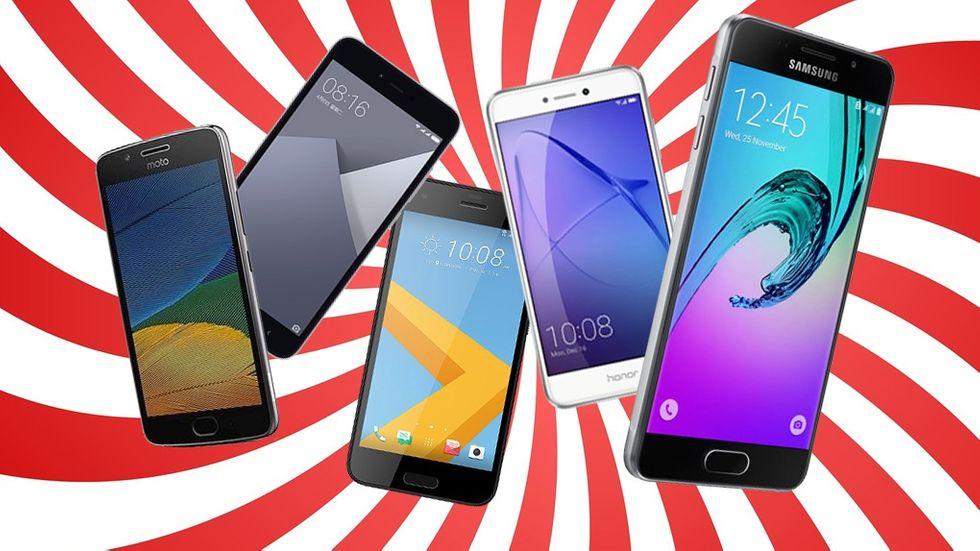 Billig smartphone med kontantkort