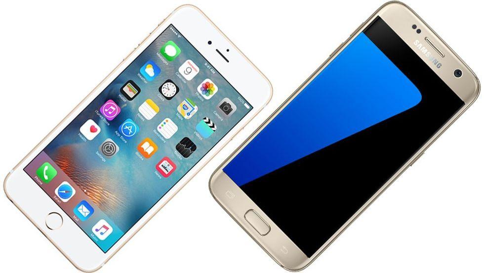 Iphone 6s och Galaxy S7
