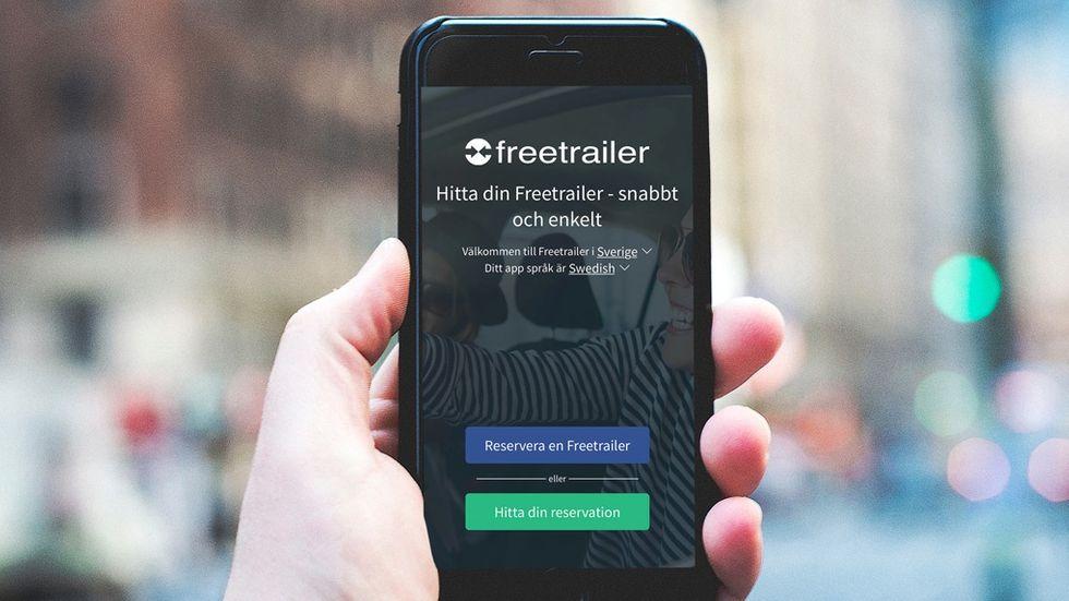 Freetrailer Låna gratis släpkärror