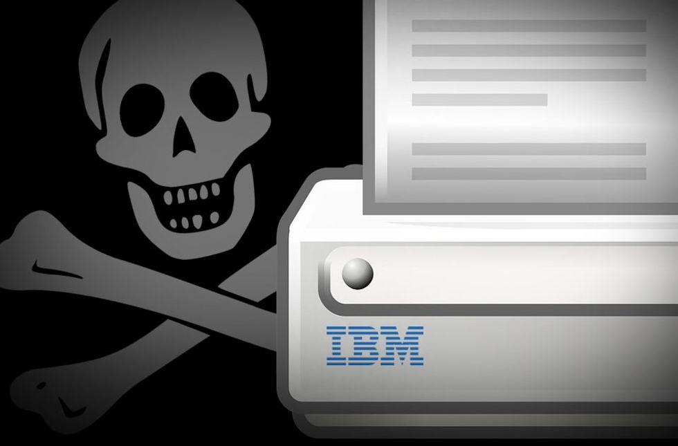 ibm skrivare piratkopiering