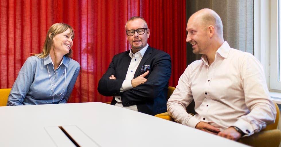 Lena Mahlberg, Peder Sjölander och Daniel Andersson, Pensionsmyndigheten.
