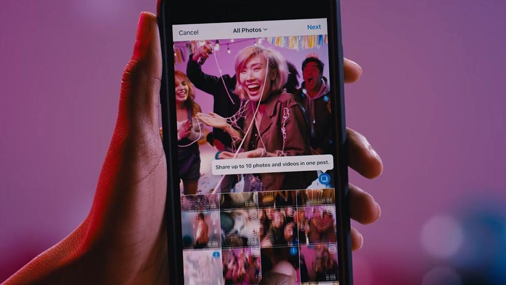 Instagram ny funktion låter dig posta flera bilder samtidigt
