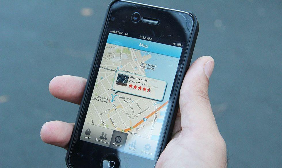 Smarta cykellås app GPS