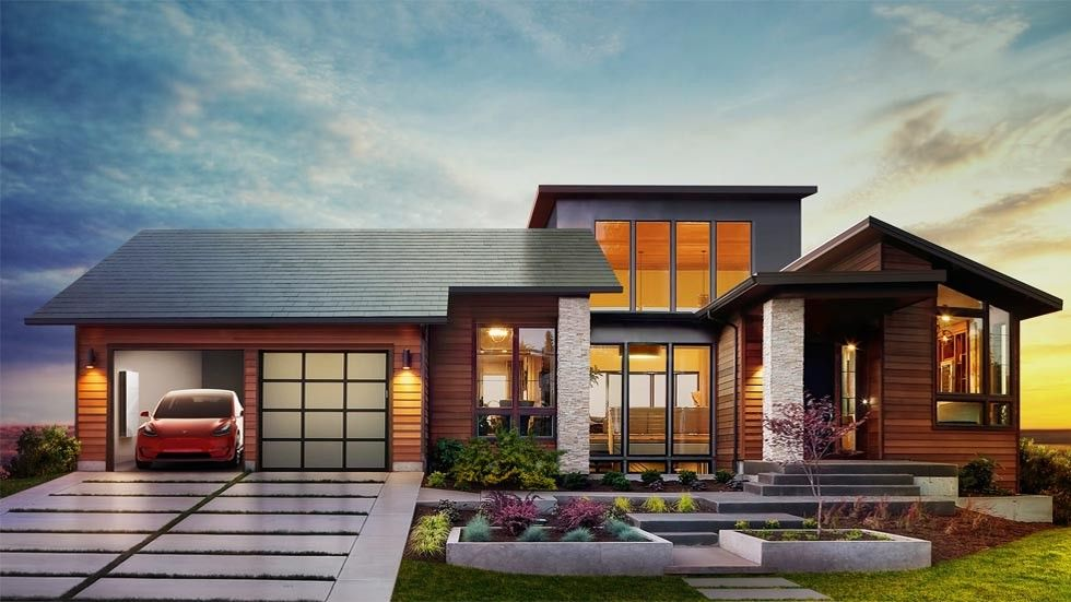 tesla solar panel roof