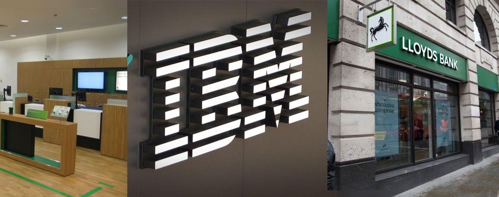 Lloyds Bank och IBM.