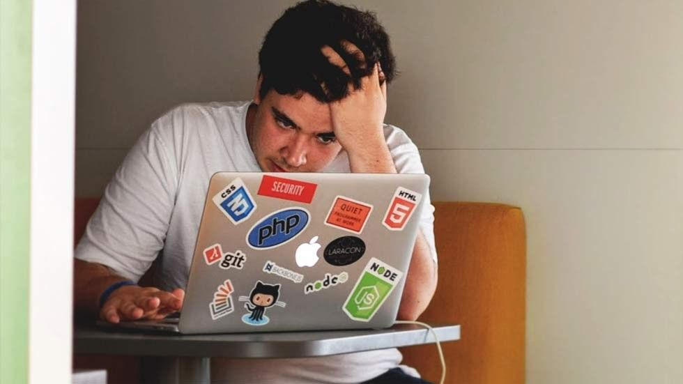 frustrerad jobbet