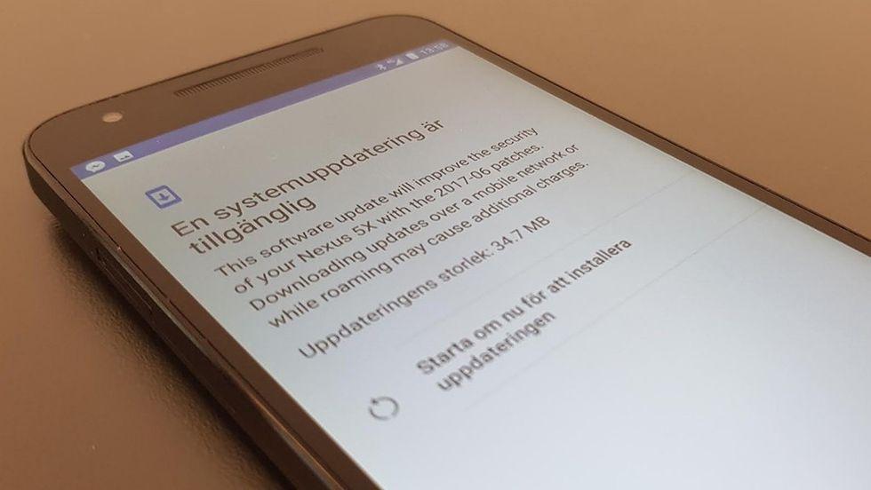 Uppdatera Android