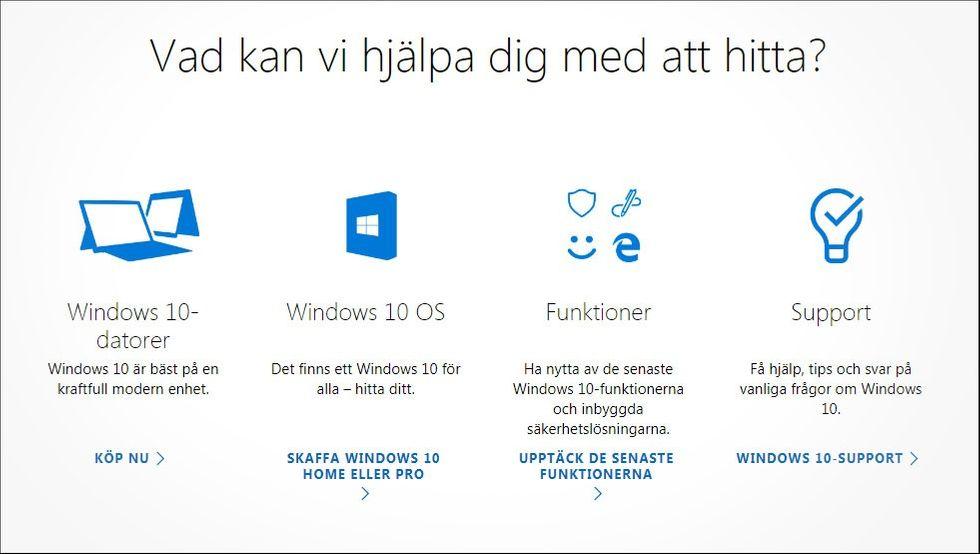 Detalj från Microsoft.com