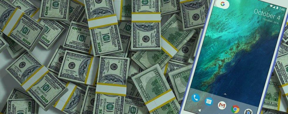 Dollarsedlar, Google Pixel