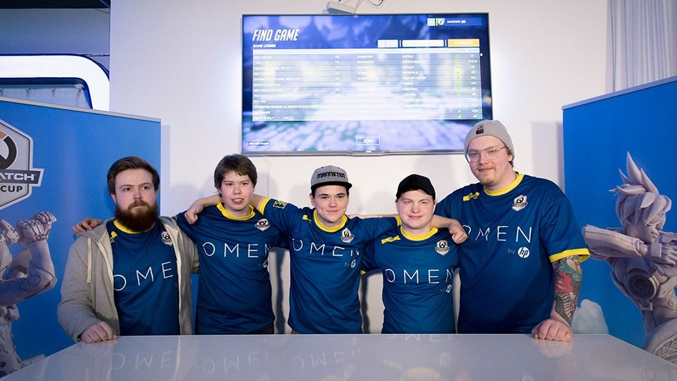 Team Sweden i Overwatch World Cup