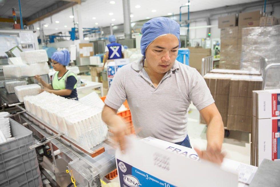 Produktion i Essity-fabriken