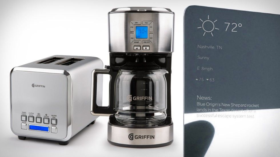 Griffin Technology Conntected Toaster, Connected Coffee Maker, Connected Mirror
