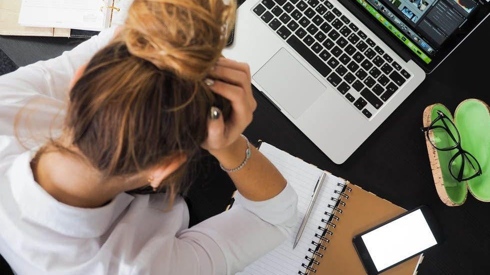 Stressad medarbetare