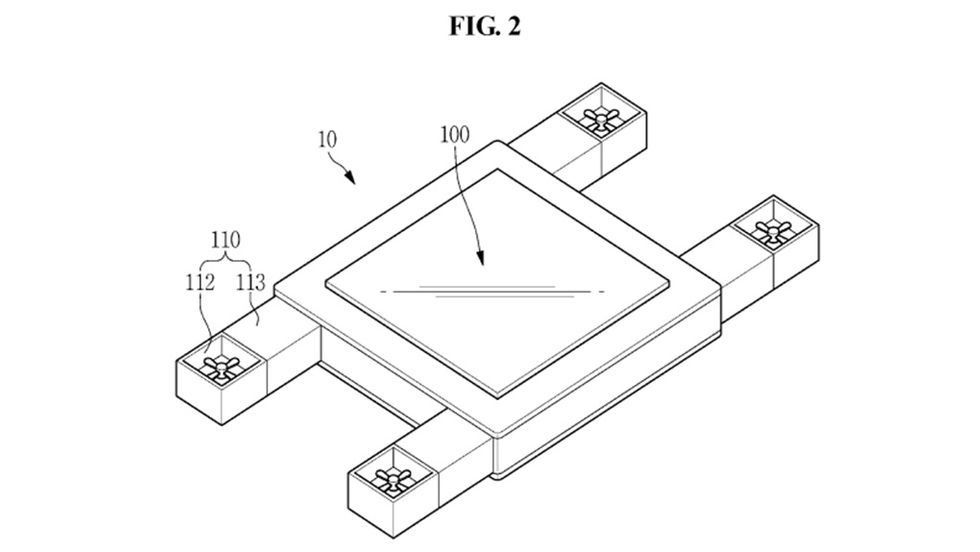 Samsung patent flygande skärm