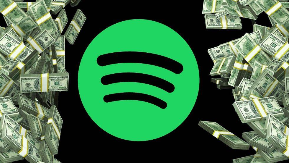 Illustration: Spotify-ikon och pengar