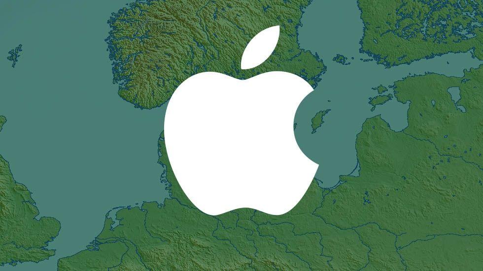 Apple-logo på karta