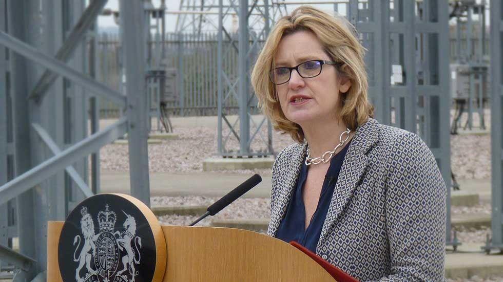 Storbritanniens inrikesminister Amber Rudd