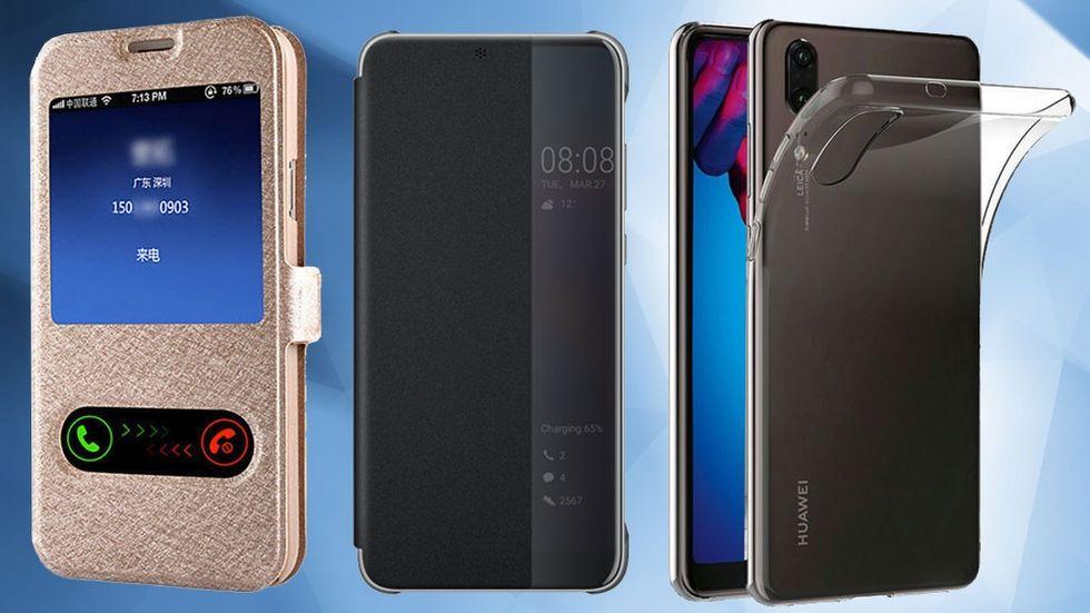 Snygga skal fodral Huawei P20, P20 Pro, P20 Lite
