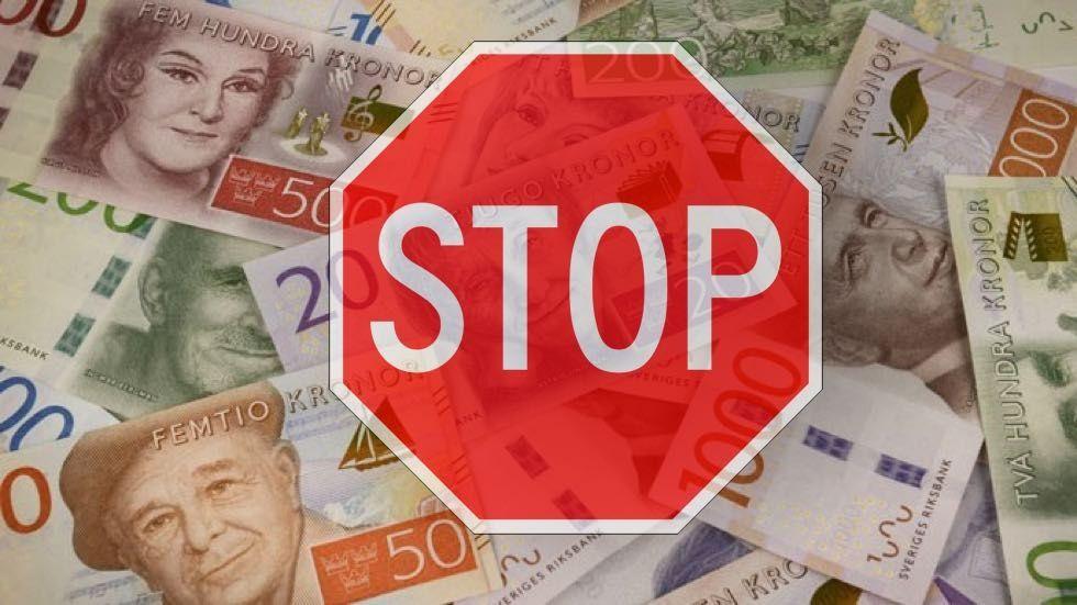stopp kontanter