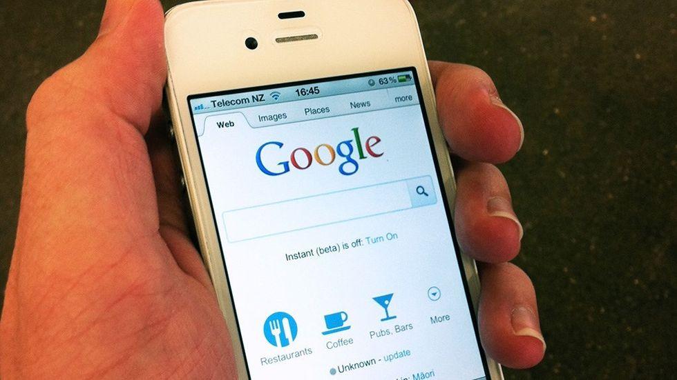 Google på Iphone 4S