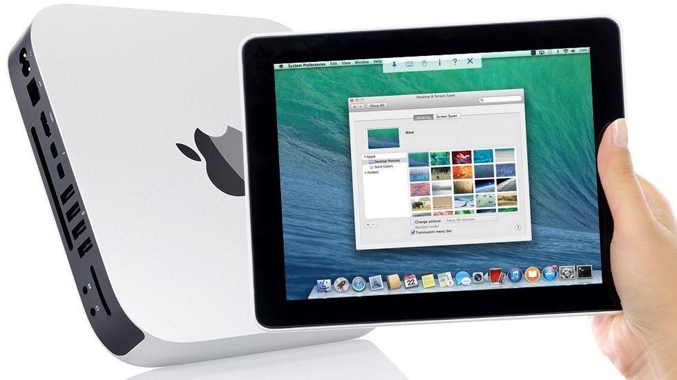 VNC på Ipad styr Mac Mini