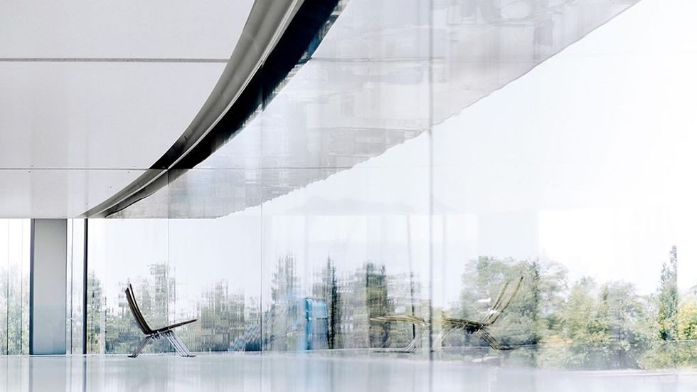 Fönster utåt på Apple Park
