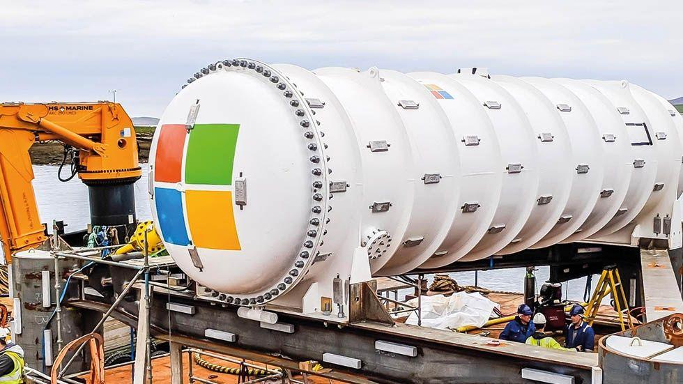 Microsoft sänker ner datacenter i havet