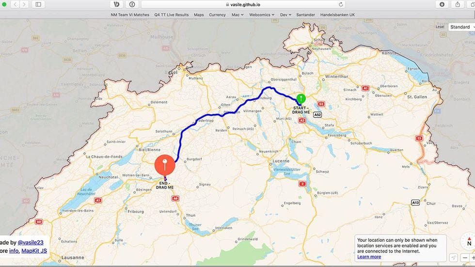 Apple Maps på webben