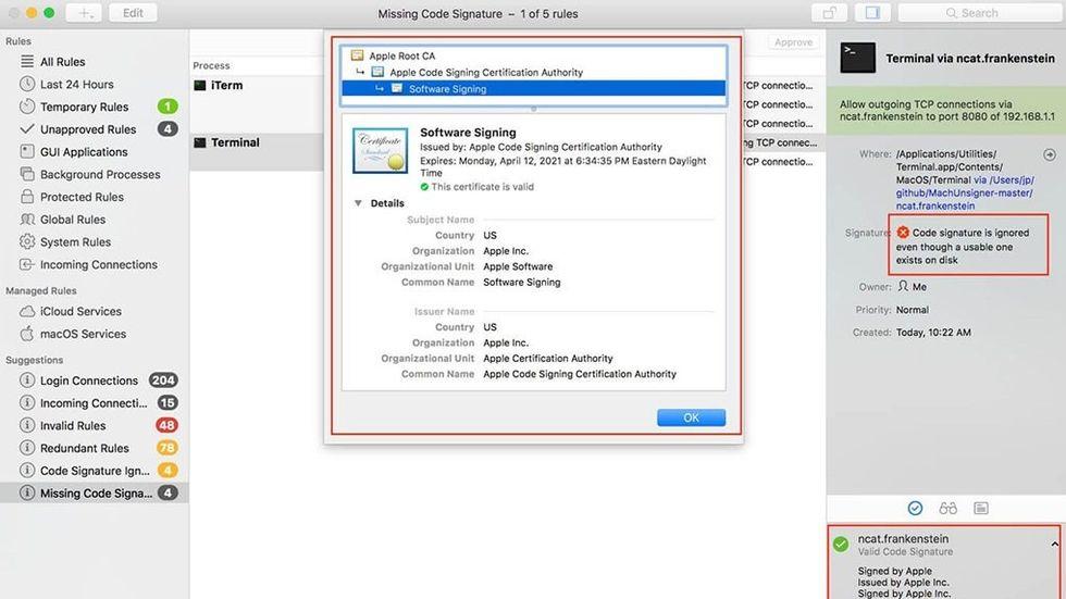 Signaturproblem på Mac