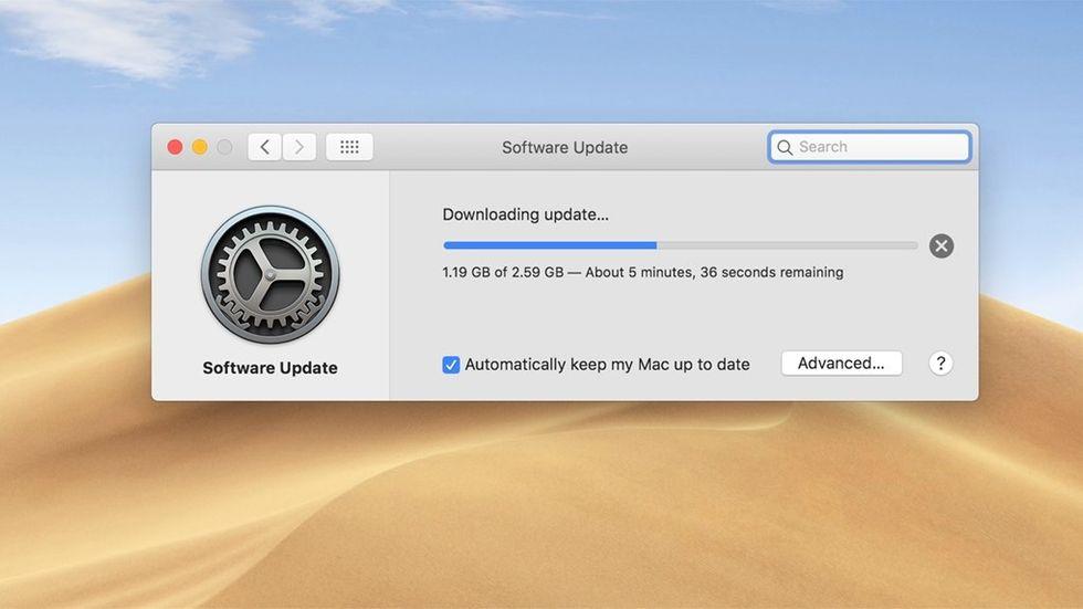Uppdatering av Mac OS Mojave
