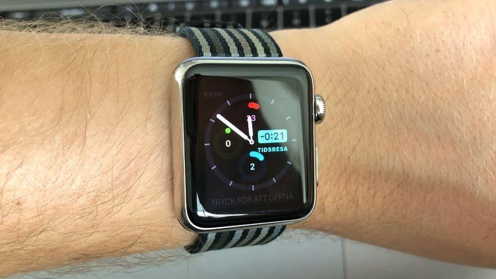 Tidsresa på Apple Watch