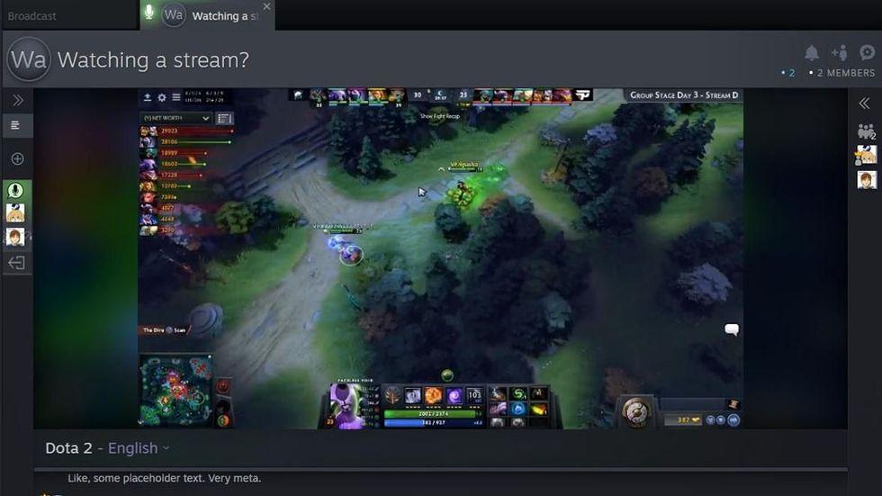Steam.tv strömmade Dota 2