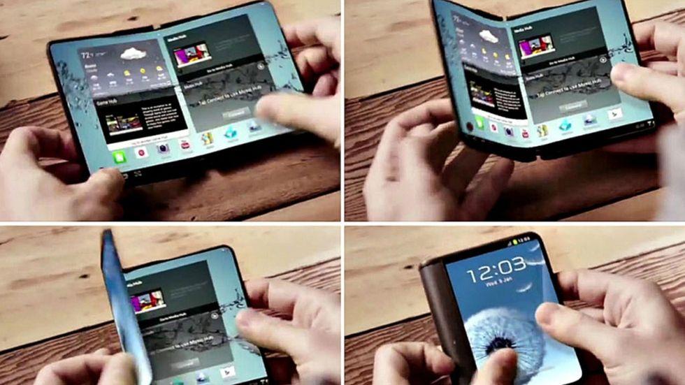 Samsung-koncept på vikbar telefon
