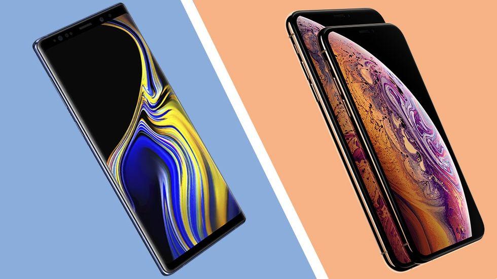 Giganternas kamp: Iphone XS och XS Max möter Galaxy Note 9