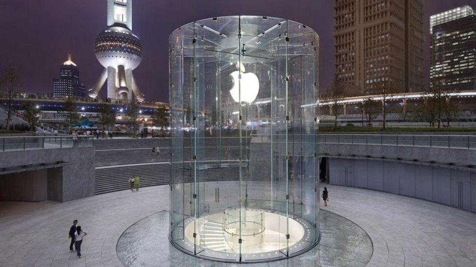 Apples-butik i Shanghai