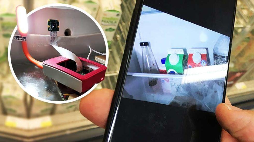 Raspberry pi kamera kylskåp