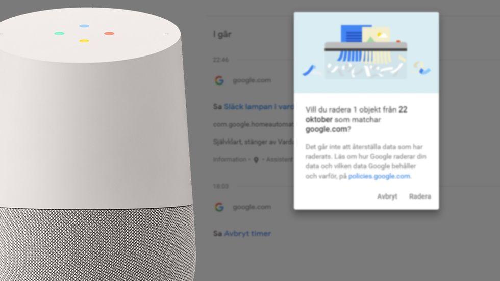 Google Home och Assistent spelar in allt – så raderar du