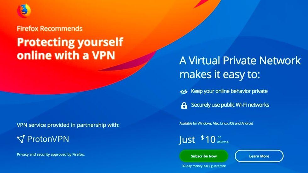 VPN i Firefox