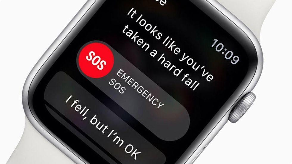 Apple Watch Series 4 upptäcker fall