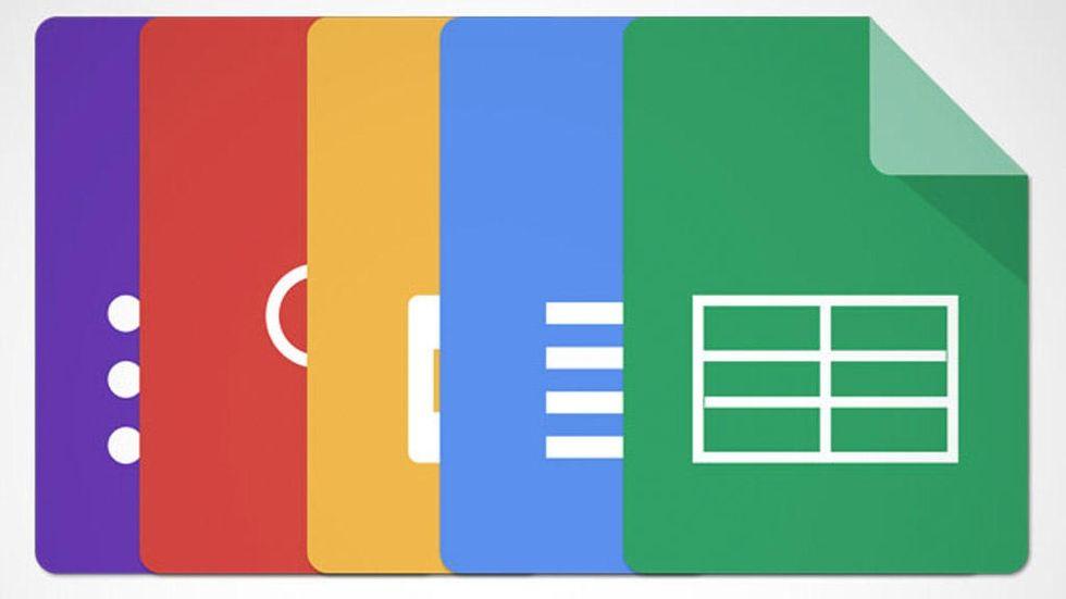 Google Docs-ikoner