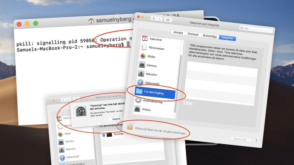 Terminalen i Mac OS Mojave
