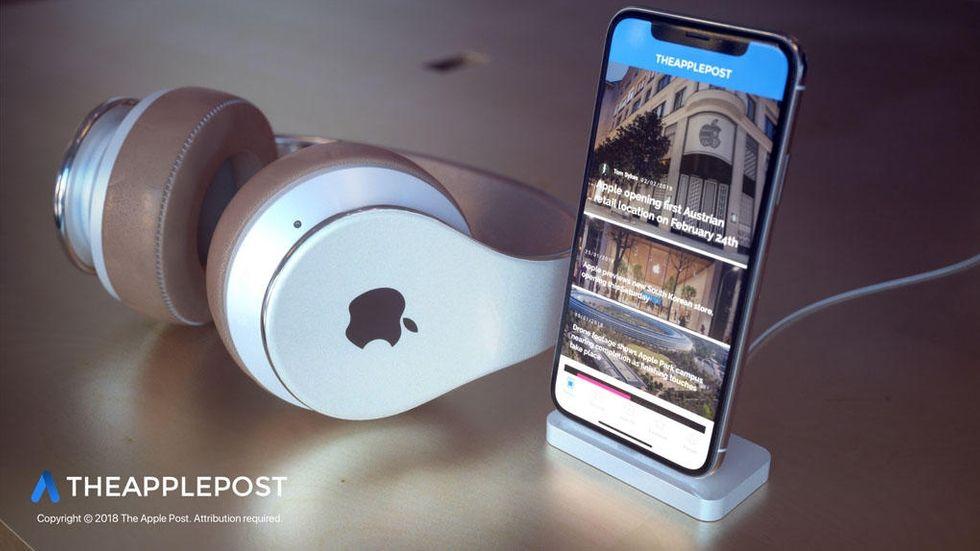 Konceptbild på Apple-hörlurar