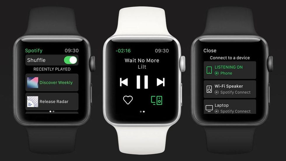 Spotify på Apple Watch