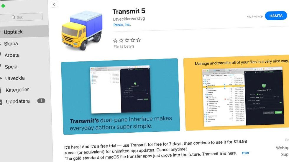 Transmit på Mac App Store