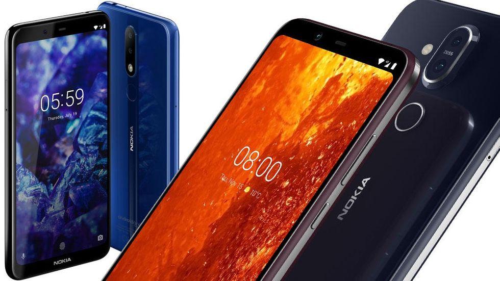 Nokia 8.1 och 5.1 Plus