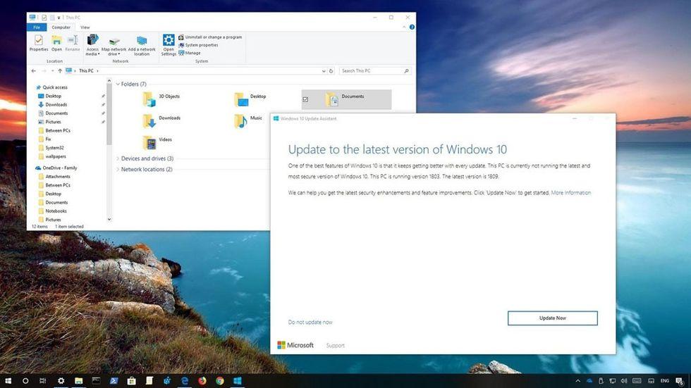 Windows 10 oktoberuppdatering