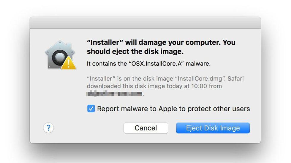 Xprotect, Macens inbyggda antivirus