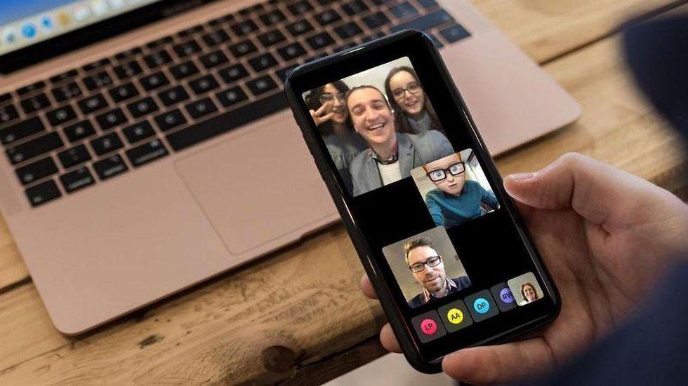 Gruppsamtal med Facetime
