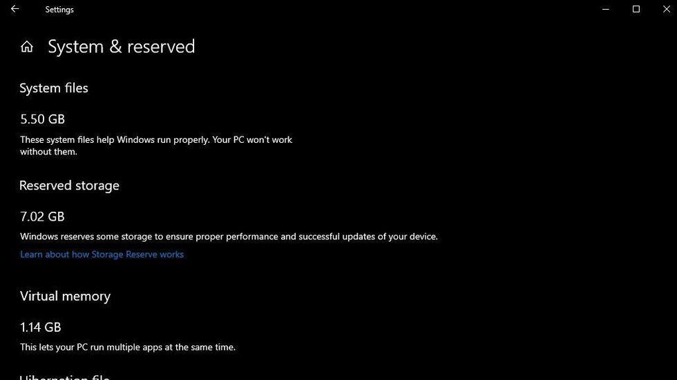 Windows reserverat utrymme